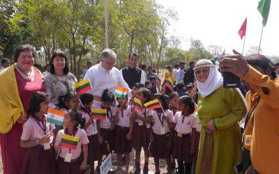 Lietuvos Romuvos delegacija Indijoje pristatė senąjį baltų tikėjimą