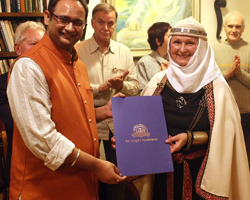 Indijos universitetas Romuvos Krivei Inijai Trinkūnienei suteikė garbės daktarės vardą